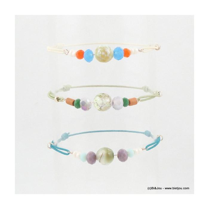 Set de 3 bracelets élastiques