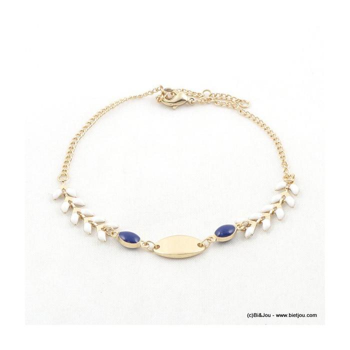 Bracelet fin en métal doré épi