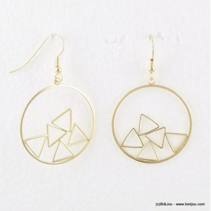 Boucles d'oreilles créoles graphiques avec triangles