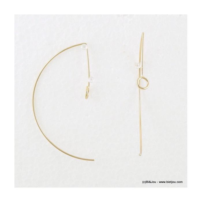 Boucles d'oreilles en métal fines et traversantes