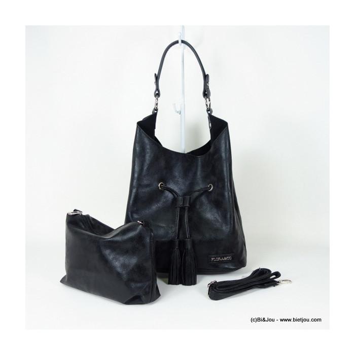 sac à main femme en simili-cuir porté épaule 0916107