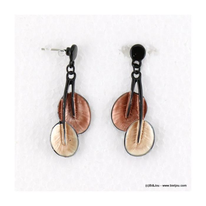 boucles d'oreilles émail nénuphar 0316515