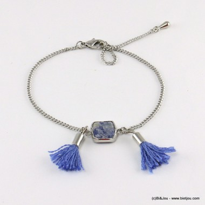 bracelet pompon pierre 0216527