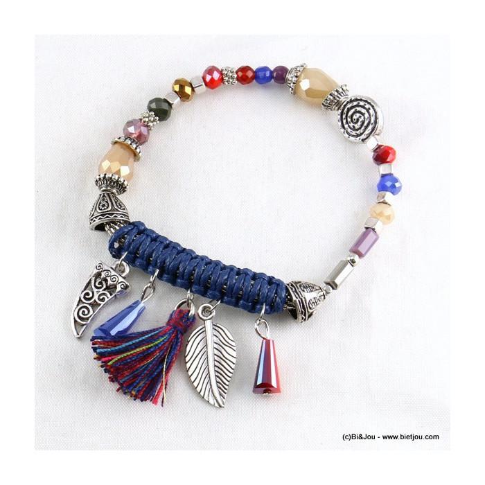 bracelet corne d'abondance feuille pompon 0216516