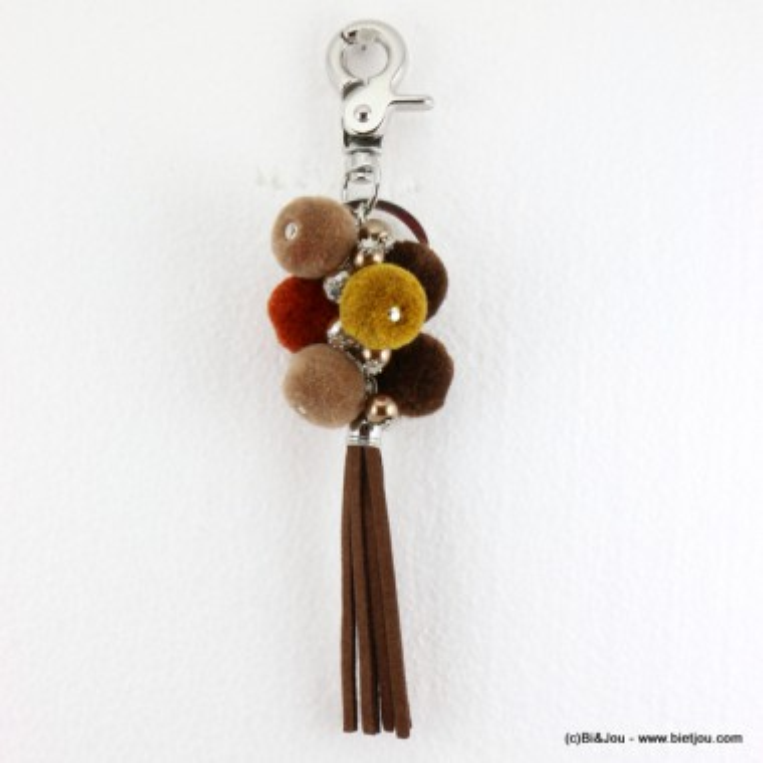 porte-clés bijou-de-sac pompon rond 0816503