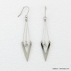 boucles d'oreilles chevron pendante hameçon 0316519