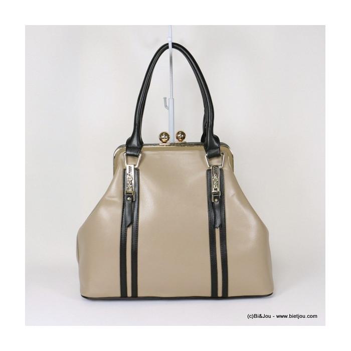 sac à main femme en simili-cuir fermoir porte monnaie 0916522