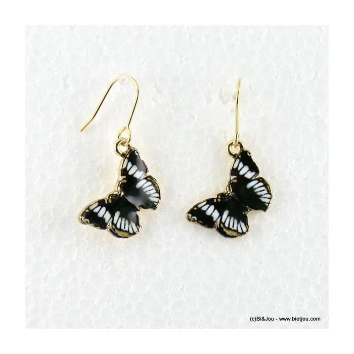 boucles d'oreille vintage pendante papillon 0316539