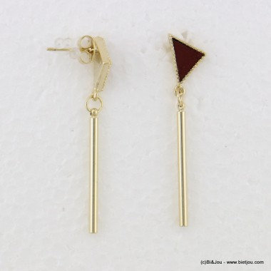 boucles d'oreille pendante triangle fermoir poussette 0316535