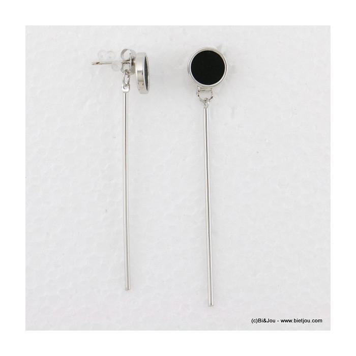 boucles d'oreille pendante rond fermoir poussette 0316536