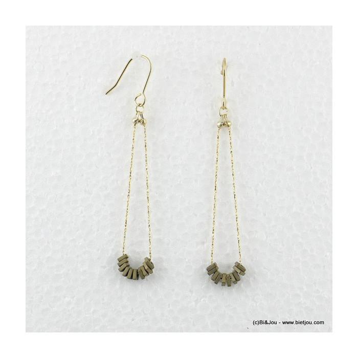 boucles d'oreilles pendante hameçon 0316566