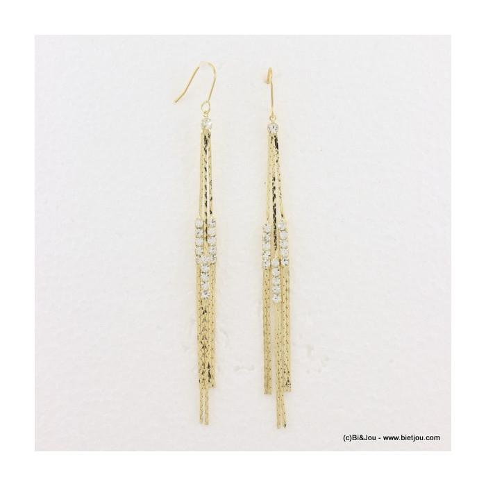 boucles d'oreille multi-brins pendante hameçon 0316580