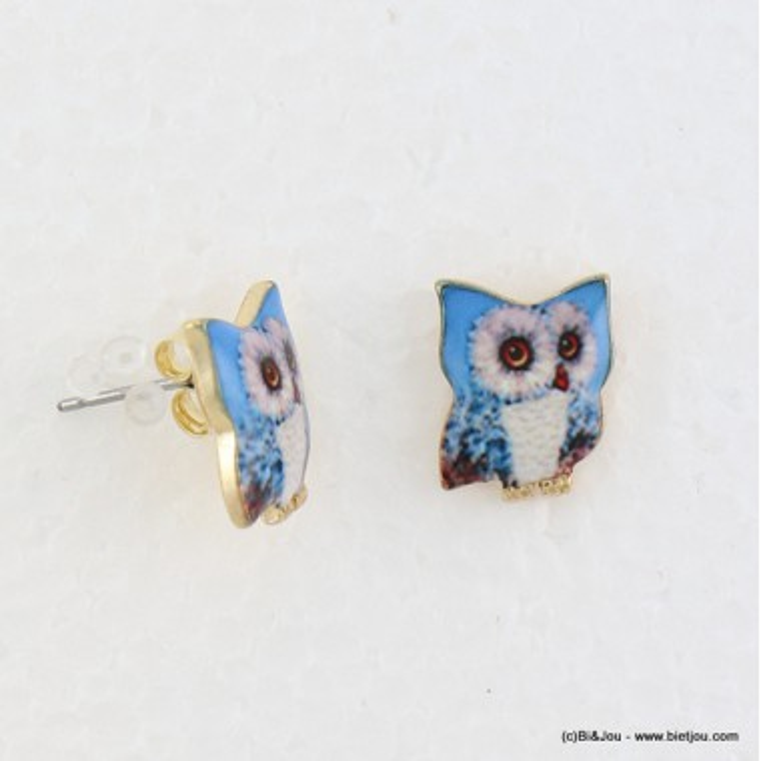 puce d'oreille chouette-hibou fermoir poussette 0316586