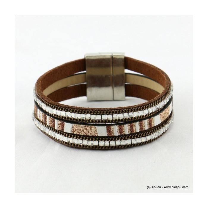 bracelet simili-cuir aimanté 0216534