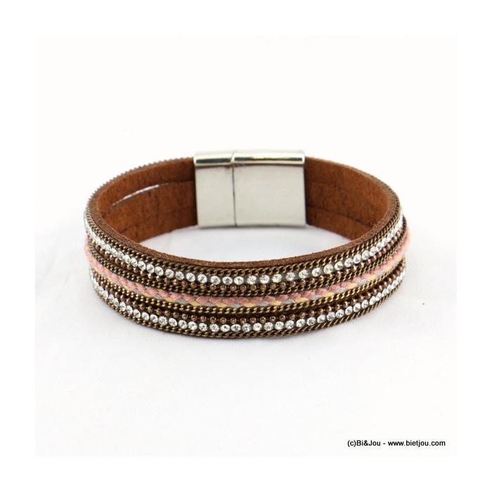 bracelet simili-cuir aimanté 0216539