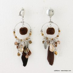 boucles d'oreille 0316502 marron