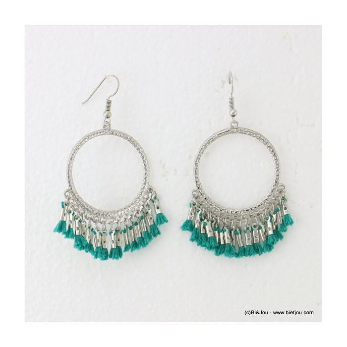 boucles d'oreilles baroque pendante fermoir crochet 0316619