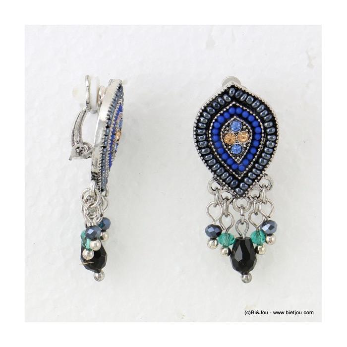 boucles d'oreilles baroque pendante clip 0316632