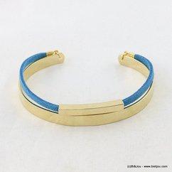 bracelet jonc ouvert suédine 0217062