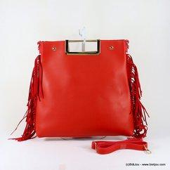 sac à main simili-cuir femme frange poignée métallique 0917032