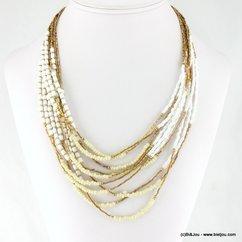collier ethnique multi-rang 0117168 naturel/beige