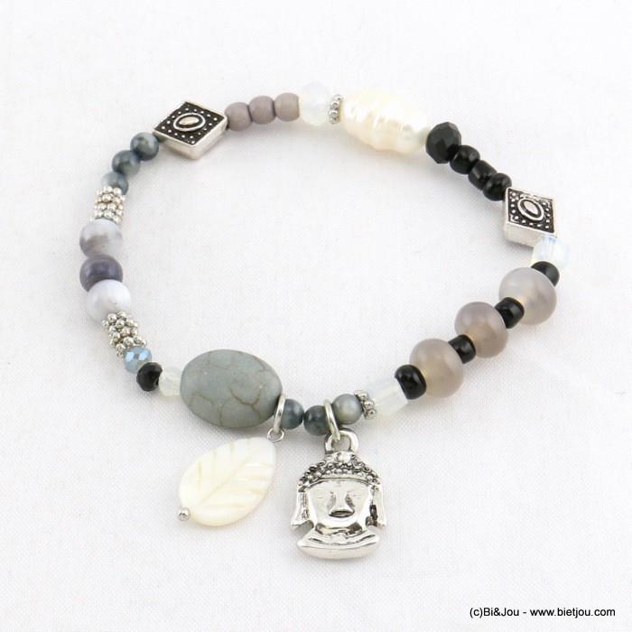 bracelet lastique avec pendentif bouddha grossiste bijoux fantaisie parissima. Black Bedroom Furniture Sets. Home Design Ideas