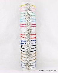 lot de 24 bracelets élastiques menottes métalliques 0217147 multi