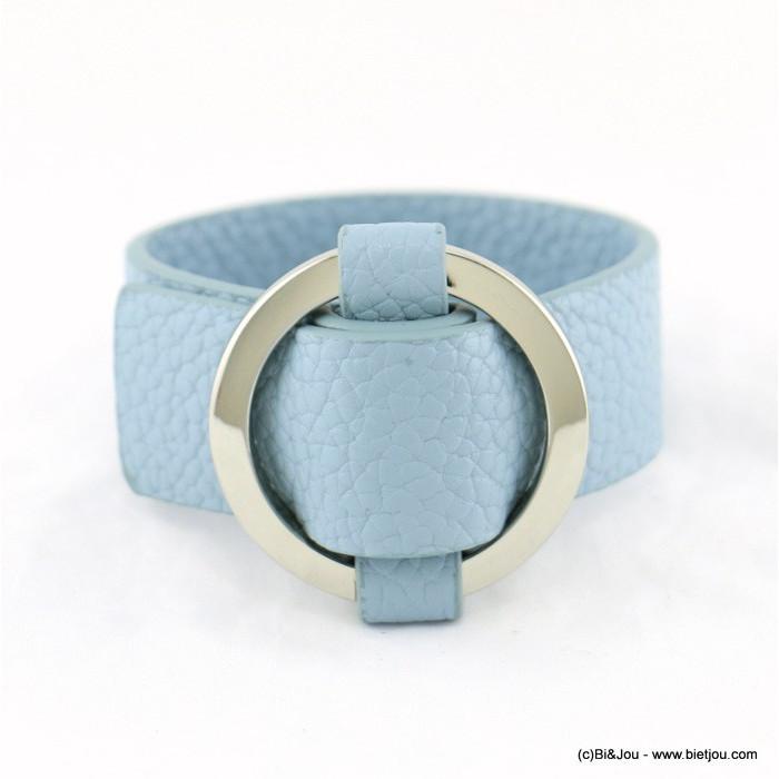 Bracelet simili cuir boucle en métal