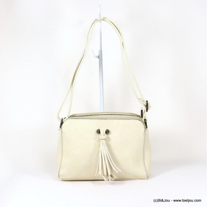 sac à bandoulière pompon touché cuir Gallantry 0916019