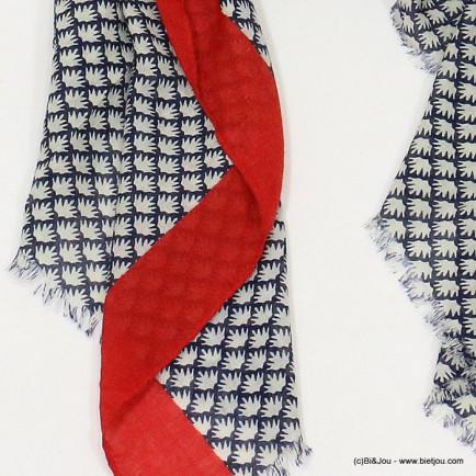écharpe imprimé 0717510 rouge