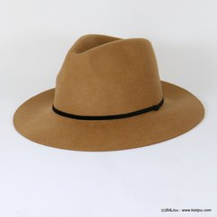 chapeau borsalino galon velours 0617502 marron