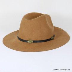 chapeau borsalino galon medaille 0617503 marron