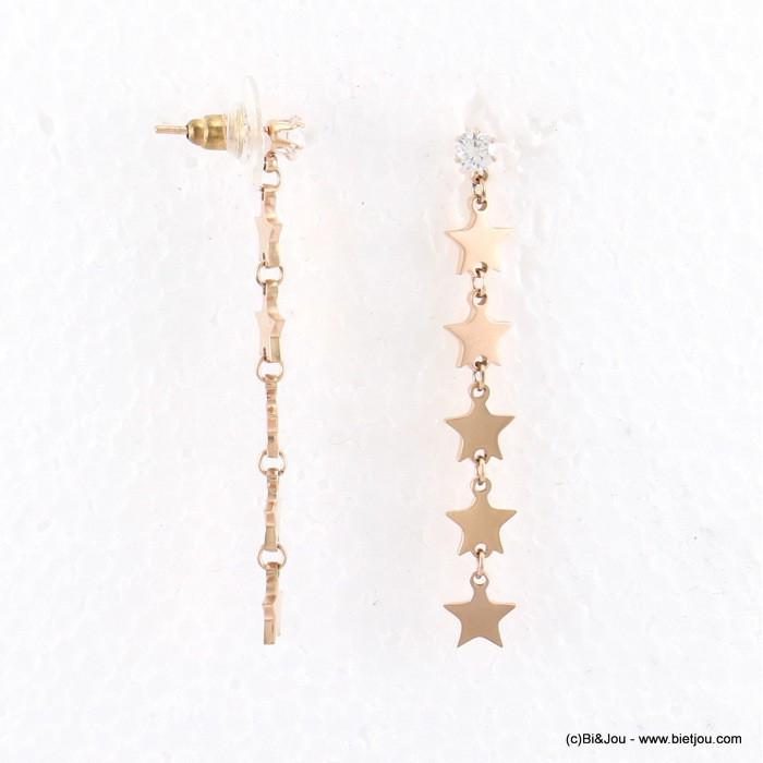 Boucles d'oreilles avec succession d'étoiles