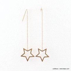 chaînes d'oreilles minimaliste étoile acier inoxydable 0317680 argenté