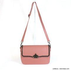 sac à bandoulière Gallantry femme simili-cuir mat rabat gainé chaîne 0917528