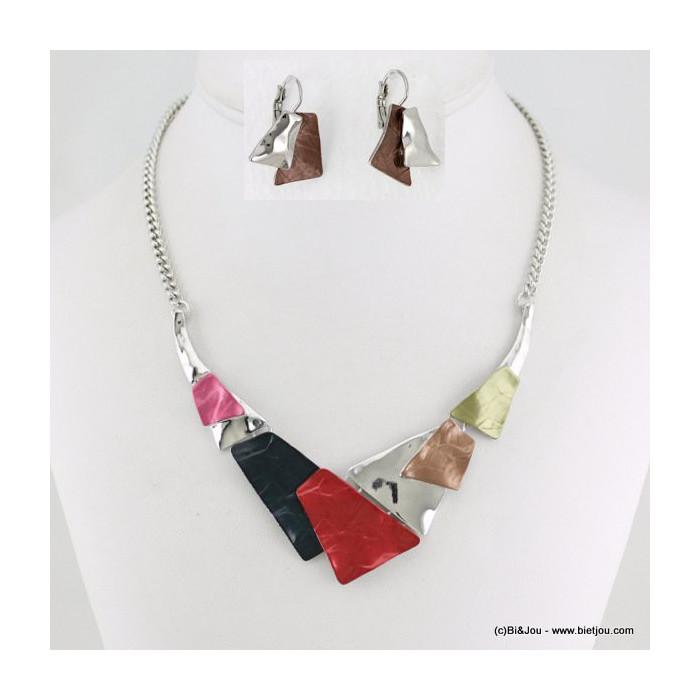 parure collier+boucles d'oreilles émail 0115638