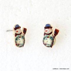 boucles d'oreilles vintage bonhomme de neige 0317943 vert
