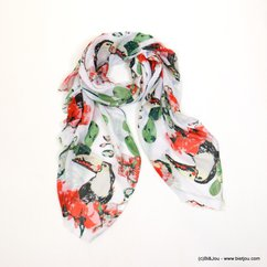 foulard toucan fleur 0718026