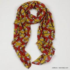 foulard femme coton imprimé wax 0718028
