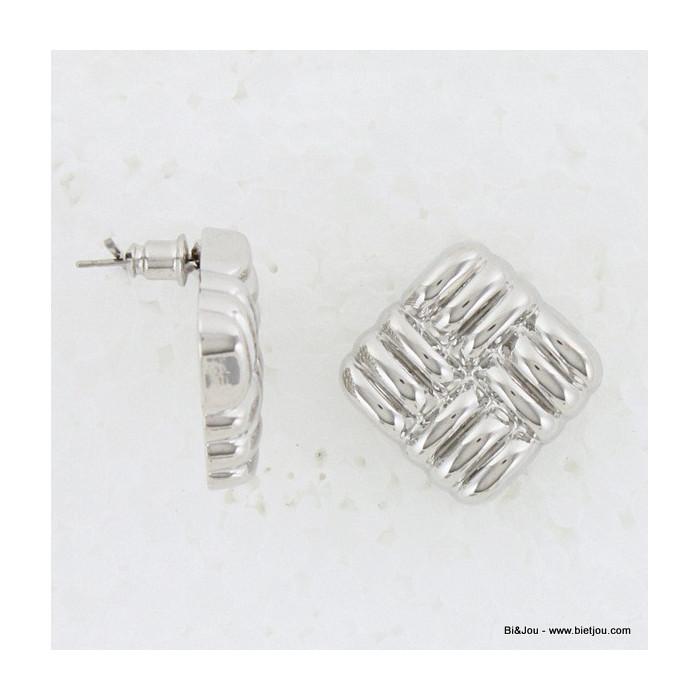 Boucles d'oreille carrées
