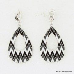 boucles d'oreille 0313540 noir/blanc
