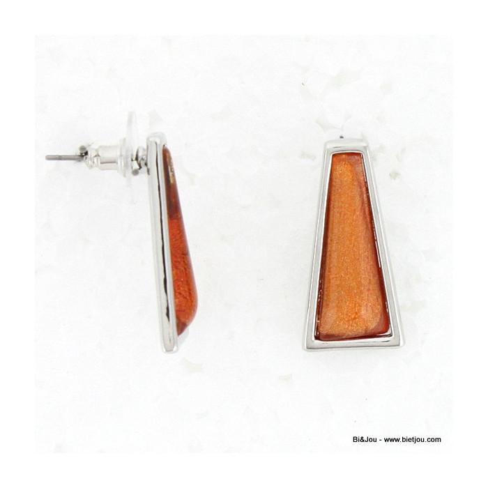 Boucles d'oreille Triangle résine, métal