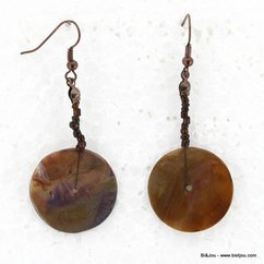 boucles d'oreille 0313517 marron