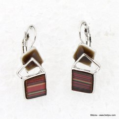 boucles d'oreille 0313566 marron