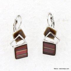boucles d'oreille 0313566 marron