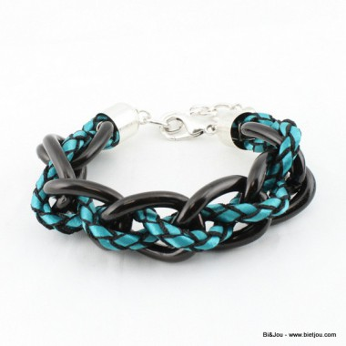 Bracelet Maillons métal polyester