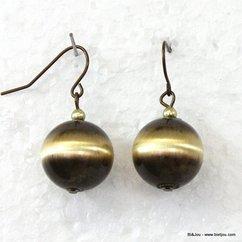 boucles d'oreille 0310073 marron