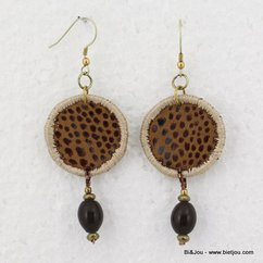 boucles d'oreille 0312502 marron