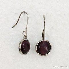 boucles d'oreille 0311050 violet