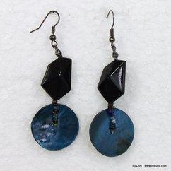boucles d'oreille 0310130 bleu